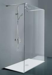 HOPA - Walk-in sprchový kout CALA - Výška - 195 cm, Barva rámu zástěny - Hliník chrom, Provedení - Univerzální, Výplň - Čiré bezpečnostní sklo - 8 mm, Šíře - 120 cm (BCCALA12CC)