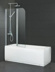 HOPA - Vanová zástěna ALVOR - Barva rámu zástěny - Hliník chrom, Provedení - Univerzální, Šíře - 120 cm, Výplň - Čiré bezpečnostní sklo - 5 mm (BCALVO12CC)