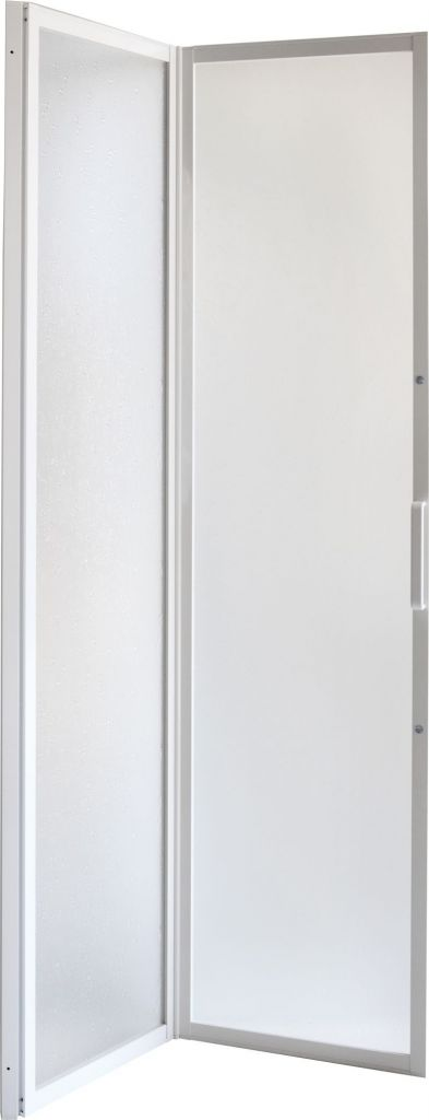 HOPA - Sprchové dvere DIANA - Farba rámu zásteny - Hliník biely, Rozmer A - 80 cm, Smer zatváranie - Univerzálny Ľavé / Pravé, Výplň - Polystyrol 2,2 mm (acrilico), Výška - 185 cm OLBSZ80