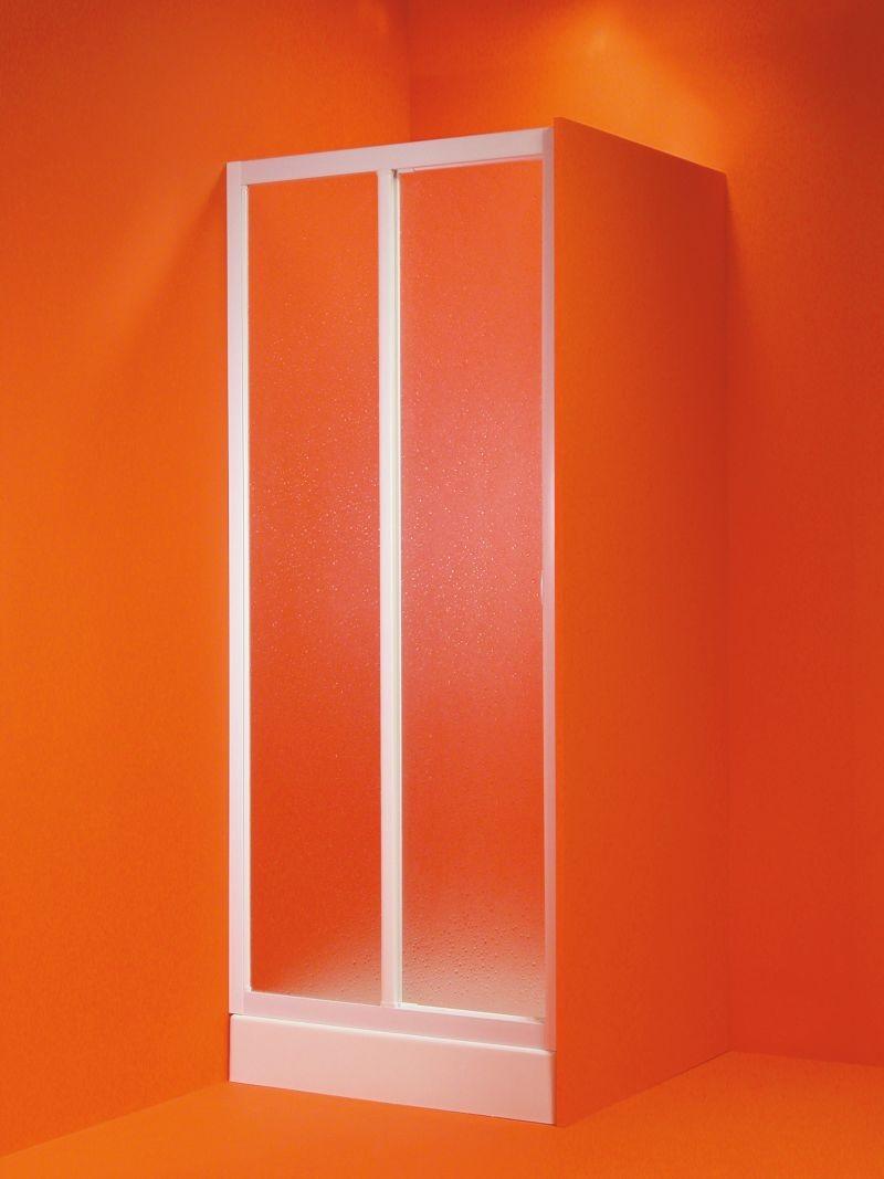HOPA - Sprchové dvere PORTA - Farba rámu zásteny - Plast biely, Rozmer A - 120 - 130 cm OLBMAE13EX