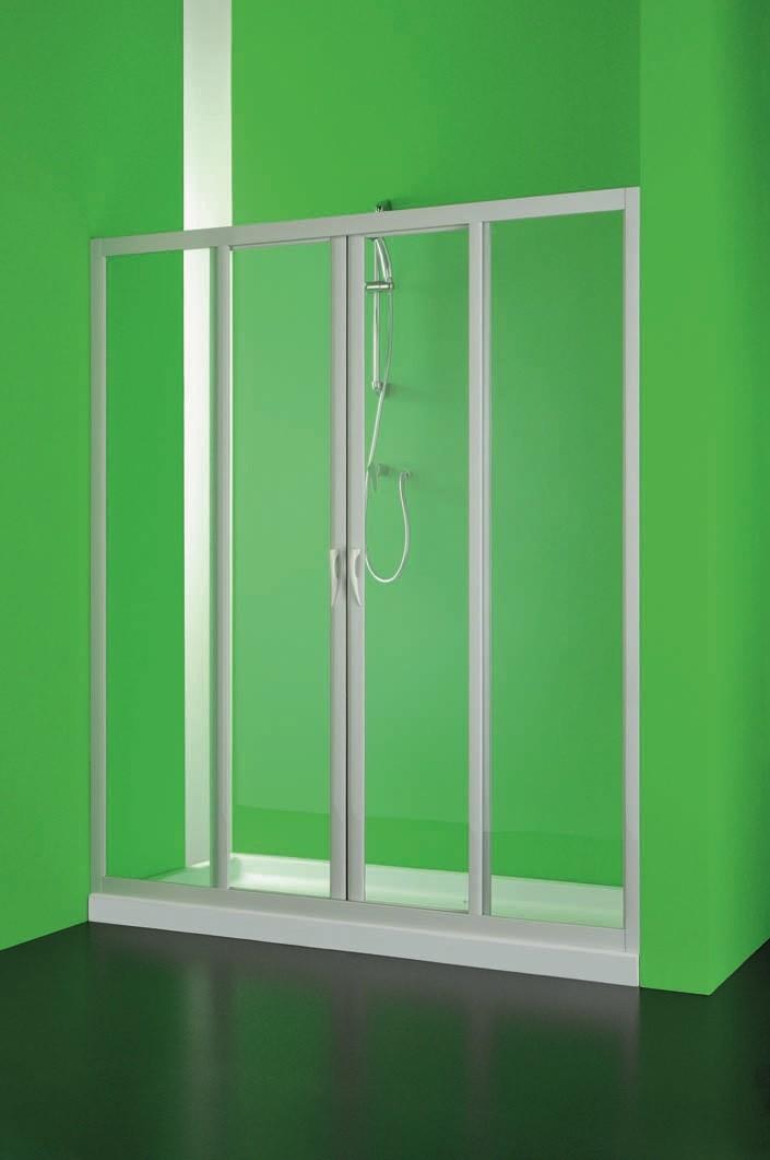 HOPA - Sprchové dvere MAESTRO CENTRALE - Farba rámu zásteny - Plast biely, Rozmer A - 150 cm, Smer zatváranie - Univerzálny Ľavé / Pravé, Výplň - Polystyrol 2,2 mm (acrilico), Výška - 185 cm BSMAC15P