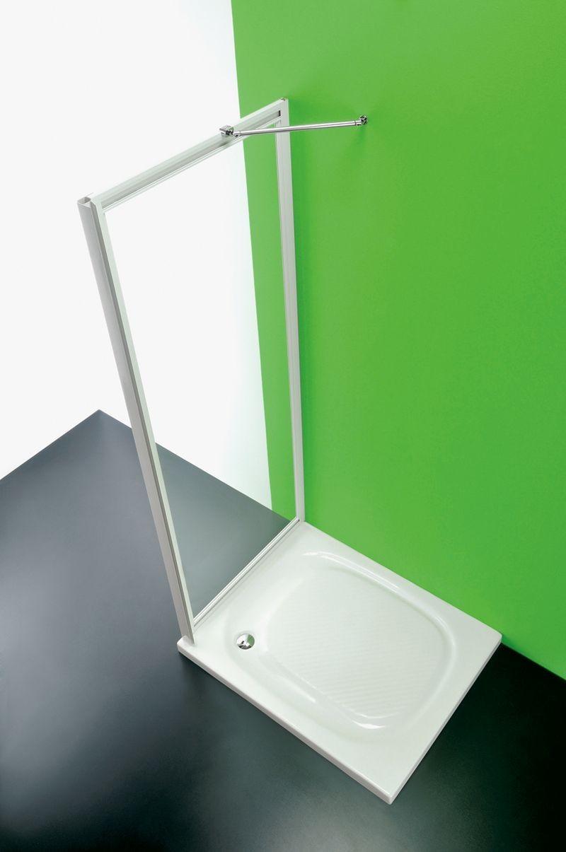 HOPA - Sprchová zástěna ANTA FISSA CC - Barva rámu zástěny - Plast bílý, Šíře - 90 cm, Výplň - Čiré bezpečnostní sklo - 3 mm (BSAFI90CCS)