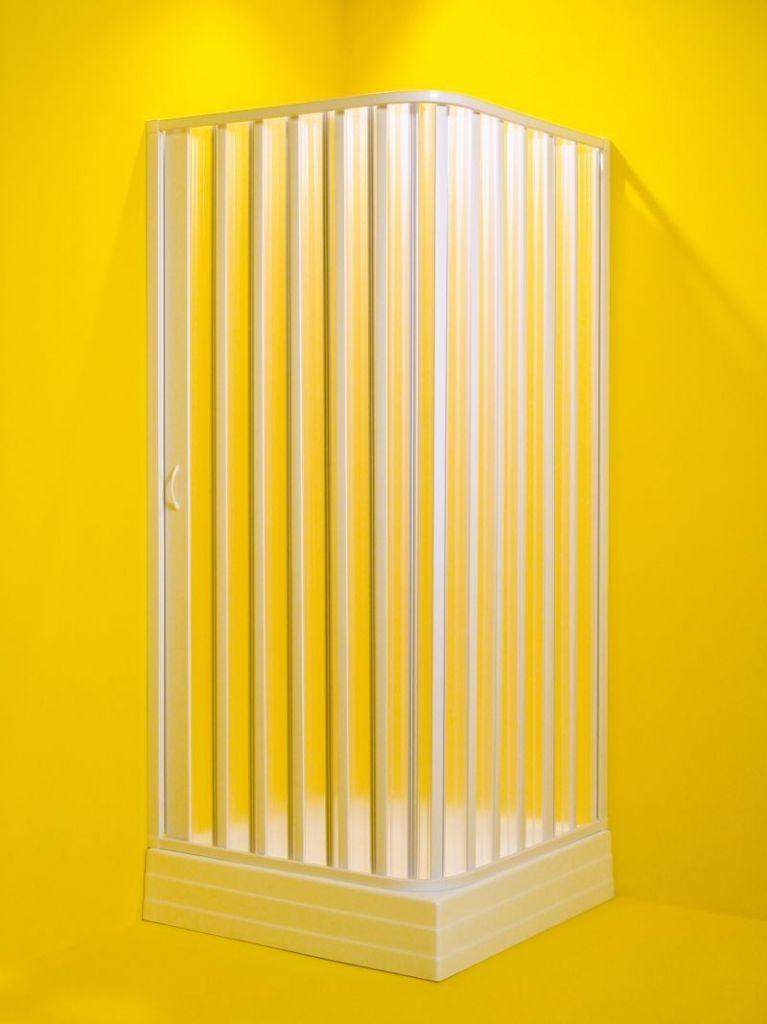 HOPA - Štvorcový sprchovací kút VENERE - Farba rámu zásteny - Plast biely, Rozmer A - 100 cm, Rozmer B - 100 cm, Smer zatváranie - Univerzálny Ľavé / Pravé, Výplň - Polystyrol 2,2 mm (acrilico) OLBVEN10