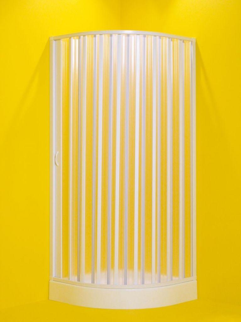 HOPA - Štvrťkruhový sprchovací kút LUNA - Farba rámu zásteny - Plast biely, Rozmer A - 90 cm, Rozmer B - 90 cm, Typ otváranie - Zatváranie na stranu, Výplň - Polystyrol 2,2 mm (acrilico) OLBLUN90S
