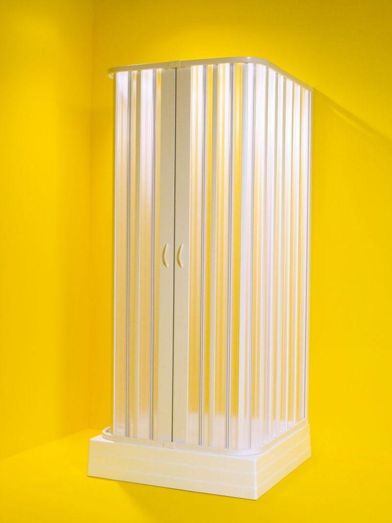 HOPA - Štvorcový sprchovací kút SATURNO - Farba rámu zásteny - Plast biely, Rozmer A - 100 cm, Rozmer B - 100 cm, Smer zatváranie - Univerzálny Ľavé / Pravé, Výplň - Polystyrol 2,2 mm (acrilico) OLBSAT10