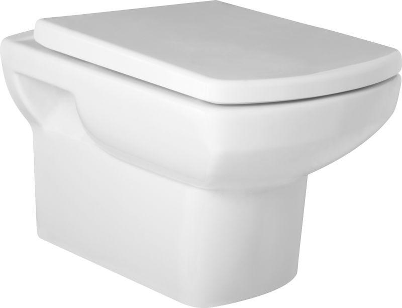 HOPA - Závěsné WC NERO - WC sedátko - Sedátko - DUROPLAST (OLKGNE04DAK00+OLKGYM00DRP25)