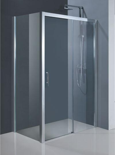 HOPA - Obdélníkový sprchový kout ESTRELA KOMBI - Provedení - Levé (SX), Barva rámu zástěny - Hliník chrom, Výplň - Čiré bezpečnostní sklo - 6 mm, Šíře - 140 cm, Hloubka - 80 cm (BCESTR14CCL+BCESTR80PSCC)