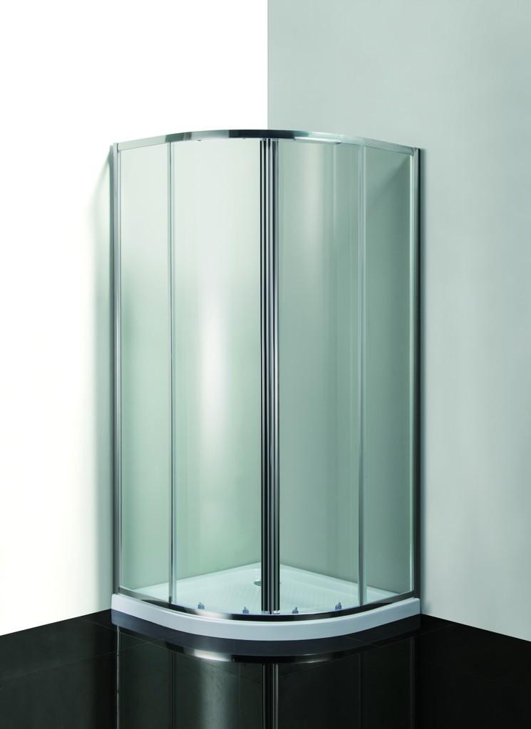 HOPA - Sprchový kout SMART - MURO - Barva rámu zástěny - Hliník chrom, Hloubka - 90 cm, Provedení - Univerzální, Šíře - 90 cm, Výplň - Grape bezpečnostní sklo - 4 / 6 mm (OLBMUR90CGBV)