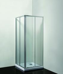 HOPA - Sprchový kout SMART - RANDA - Barva rámu zástěny - Hliník chrom, Provedení - Univerzální, Výplň - Čiré bezpečnostní sklo - 4 / 6 mm, Šíře - 90 cm, Hloubka - 90 cm (OLBRAN90CCBV)