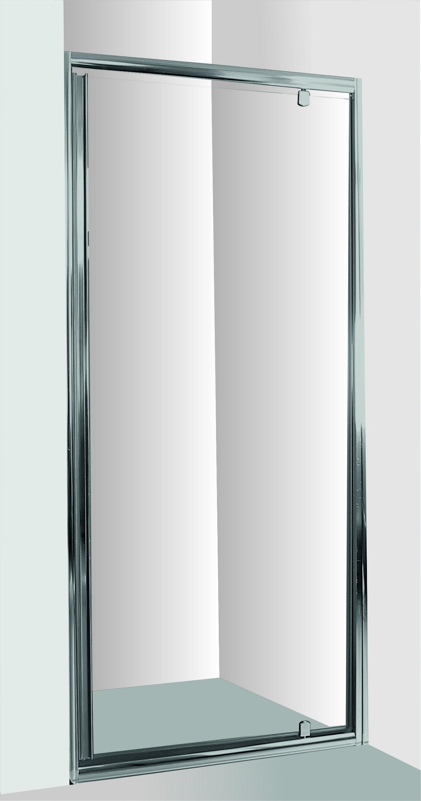 HOPA - Sprchové dvere do niky SMART - alarm - Farba rámu zásteny - Hliník chróm, Rozmer A - 90 cm, Smer zatváranie - Univerzálny Ľavé / Pravé, Výplň - Číre bezpečnostné sklo - 6 mm OLBALA90CCBV