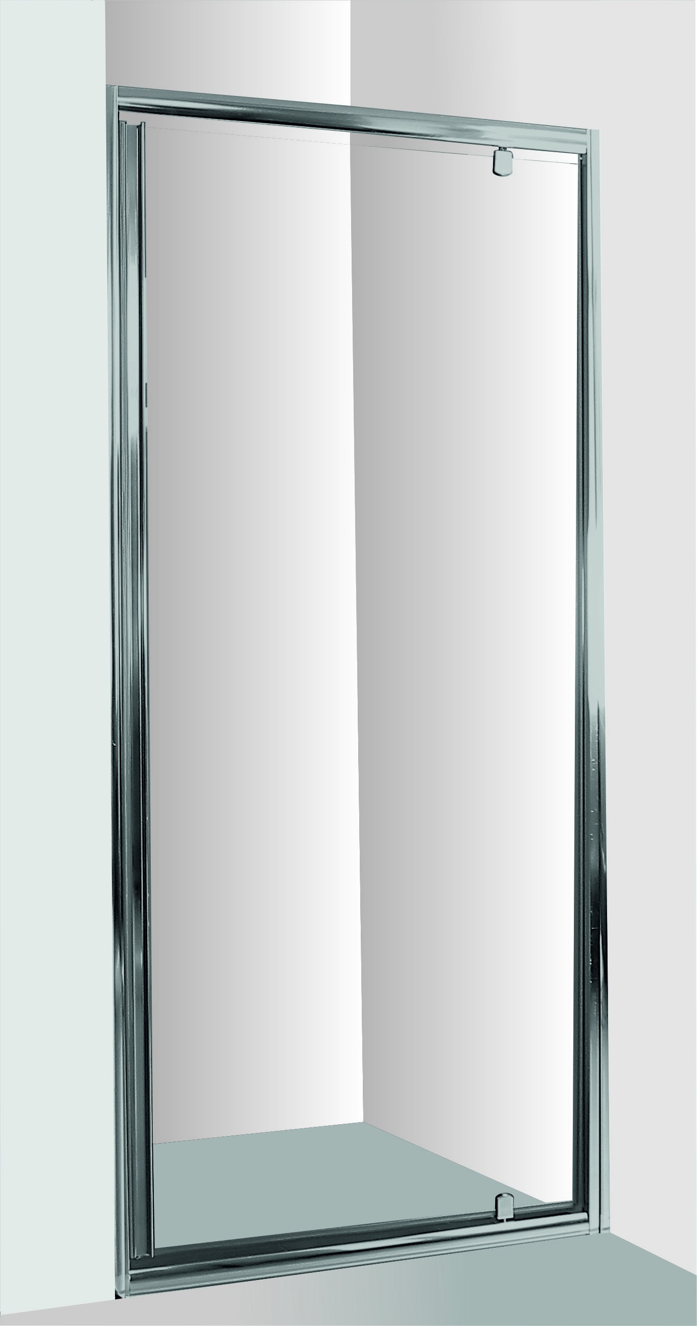 HOPA - Sprchové dvere do niky SMART - alarm - Farba rámu zásteny - Hliník chróm, Rozmer A - 100 cm, Smer zatváranie - Univerzálny Ľavé / Pravé, Výplň - Číre bezpečnostné sklo - 6 mm OLBALA100CCBV