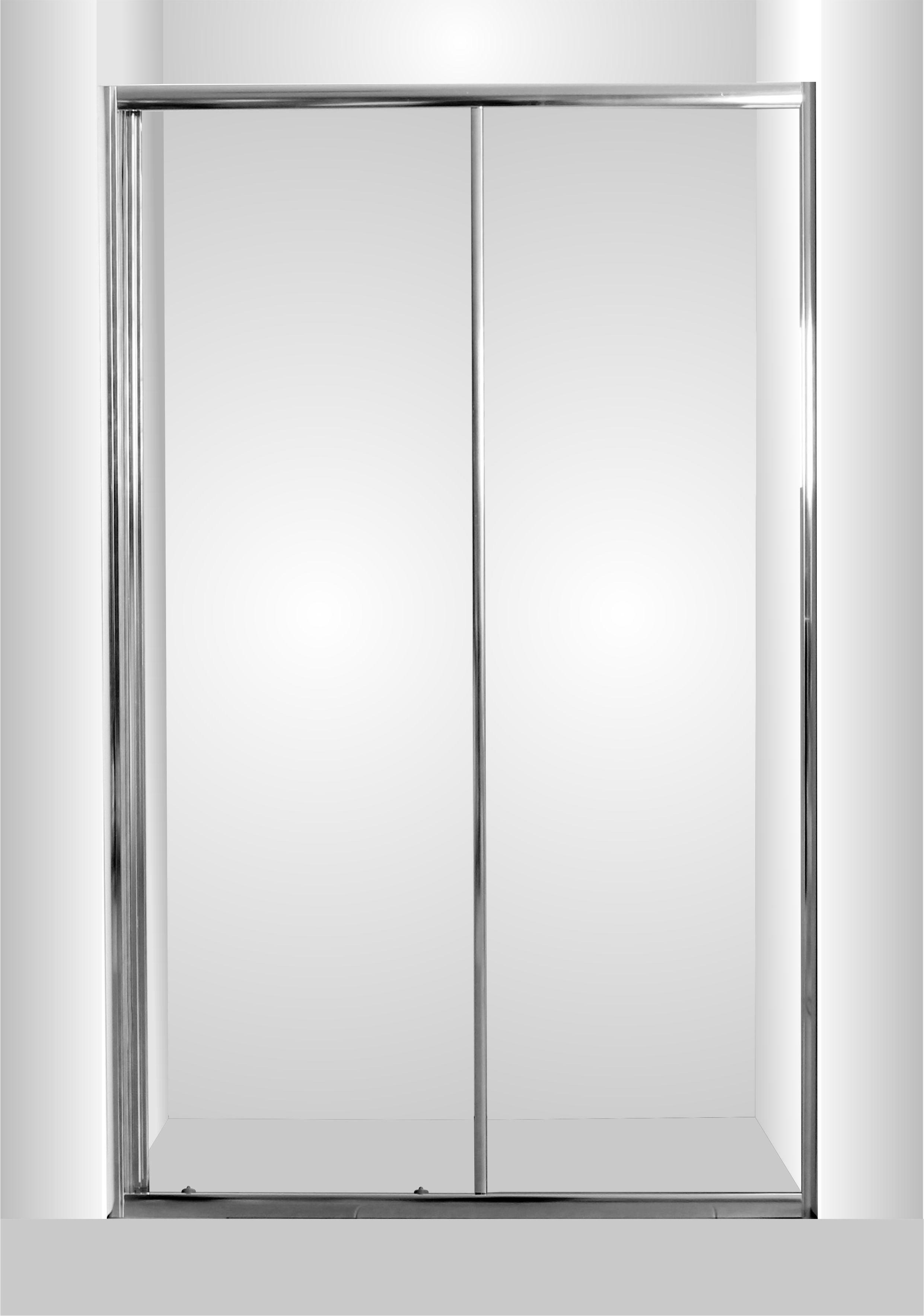 HOPA - Sprchové dveře do niky SMART - SELVA - Barva rámu zástěny - Hliník chrom, Rozměr A - 100 cm, Směr zavírání - Univerzální Levé / Pravé, Výplň - Grape bezpečnostní sklo - 4 / 6 mm (OLBSEL10CGBV)