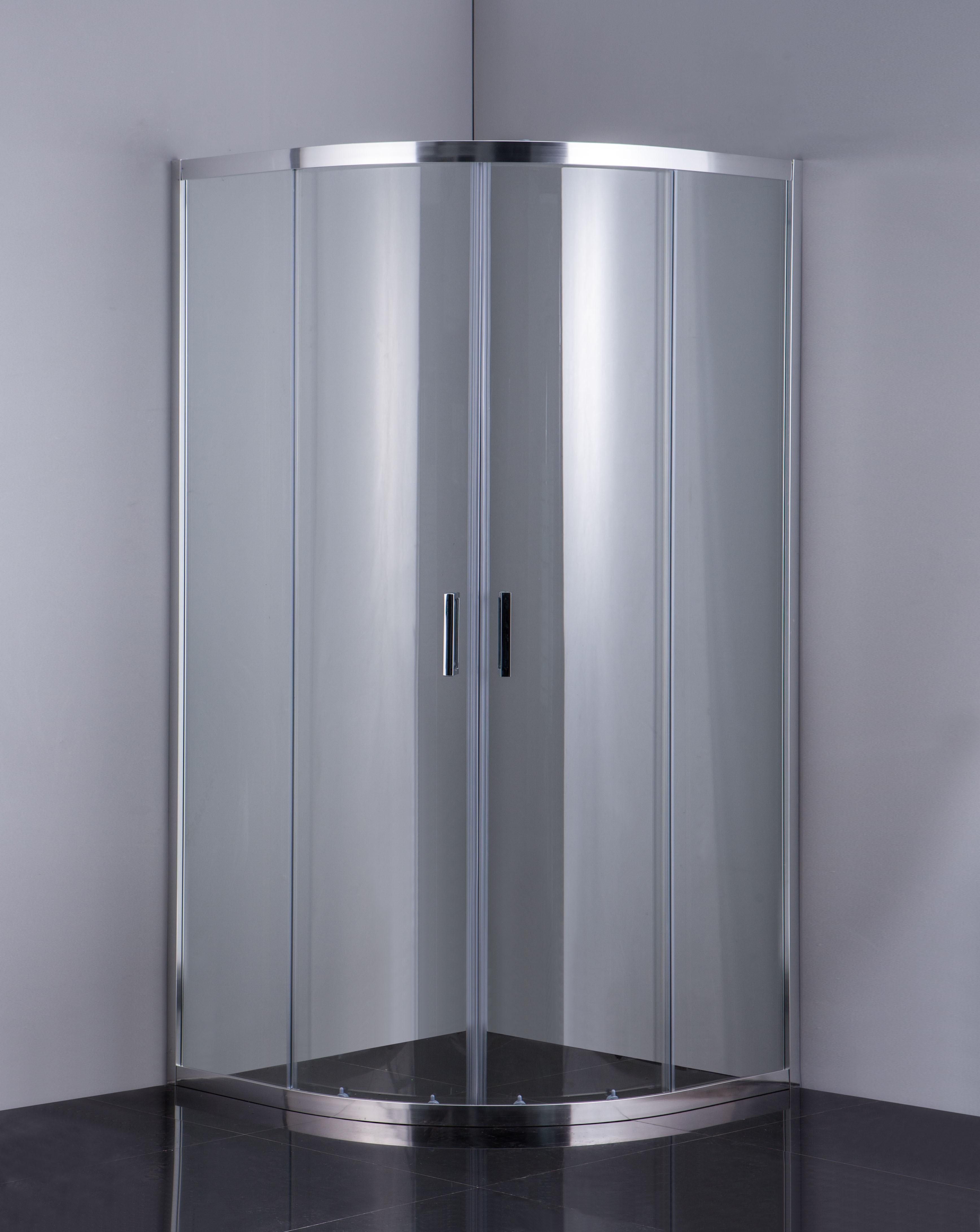 HOPA - Sprchový kout BARCELONA PLUS - Barva rámu zástěny - Hliník chrom, Hloubka - 90 cm, Provedení - Univerzální, Šíře - 90 cm, Výplň - Grape bezpečnostní sklo - 5 / 6 mm (OLBPAL90CGBV)