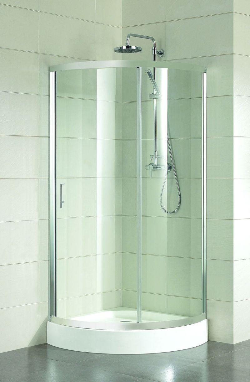 HOPA - Sprchový kout ALBATERA - Barva rámu zástěny - Hliník leštěný, Hloubka - 90 cm, Šíře - 90 cm, Výplň - Čiré bezpečnostní sklo - 4 mm (BCALB90CC)