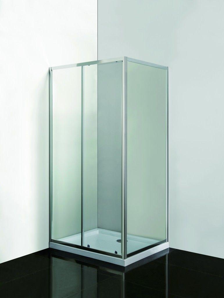 HOPA - VÝHODNÝ SET - OBDĹŽNIK SMART SELVA + PINA s vaničkou - Farba rámu zásteny - Hliník chróm, Rozmer A - 100 cm, Rozmer B - 80 cm, Smer zatváranie - Univerzálny Ľavé / Pravé, Výplň - Číre bezpečnostné sklo - 4/6 mm OLOBD10080CC1