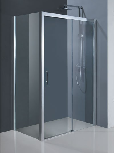 HOPA - Obdélníkový sprchový kout ESTRELA KOMBI - Barva rámu zástěny - Hliník chrom, Rozměr A - 120 cm, Rozměr B - 80 cm, Směr zavírání - Pravé (DX), Výplň - Čiré bezpečnostní sklo - 6 mm (BCESTR12CCP+BCESTR80PSCC)