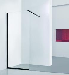 HOPA - Walk-in sprchový kout LAGOS BLACK - Barva rámu zástěny - Hliník - černá barva, Šíře - 120 cm (BCLAGO12BC)