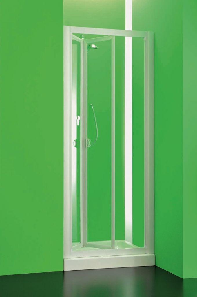 HOPA - Sprchová zástena DOMINO - Farba rámu zásteny - Plast biely, Rozmer A - 90 cm, Smer zatváranie - Univerzálny Ľavé / Pravé, Výplň - Polystyrol 2,2 mm (acrilico), Výška - 185 cm (BSDOM93P)