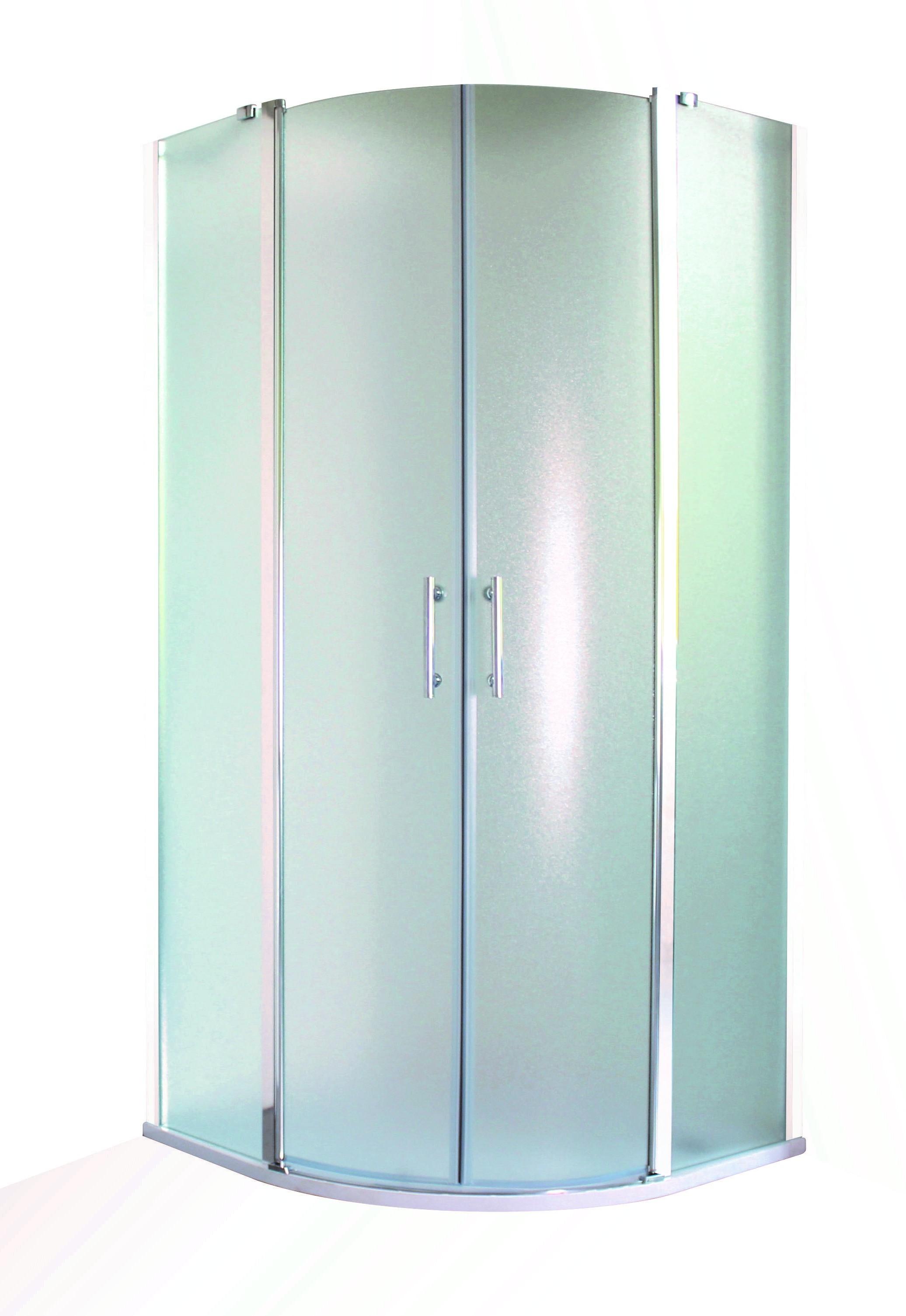 HOPA - Sprchový kout LEIDA - Barva rámu zástěny - Hliník chrom, Hloubka - 90 cm, Provedení - Univerzální, Šíře - 90 cm, Výplň - Čiré bezpečnostní sklo - 6 mm (OLBLEI90CC)