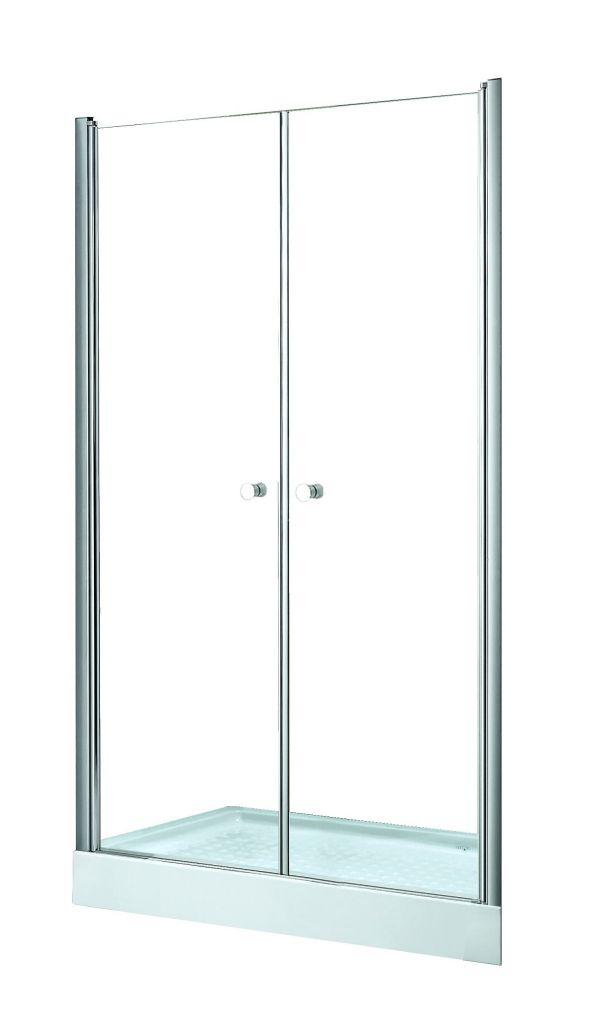 HOPA - Bezrámové sprchové dvere SINCO DUE - Farba rámu zásteny - Hliník chróm, Rozmer A - 80 cm, Smer zatváranie - Univerzálny Ľavé / Pravé, Výplň - Číre bezpečnostné sklo - 6 mm, Výška - 195 cm (BCSIN80DUE)
