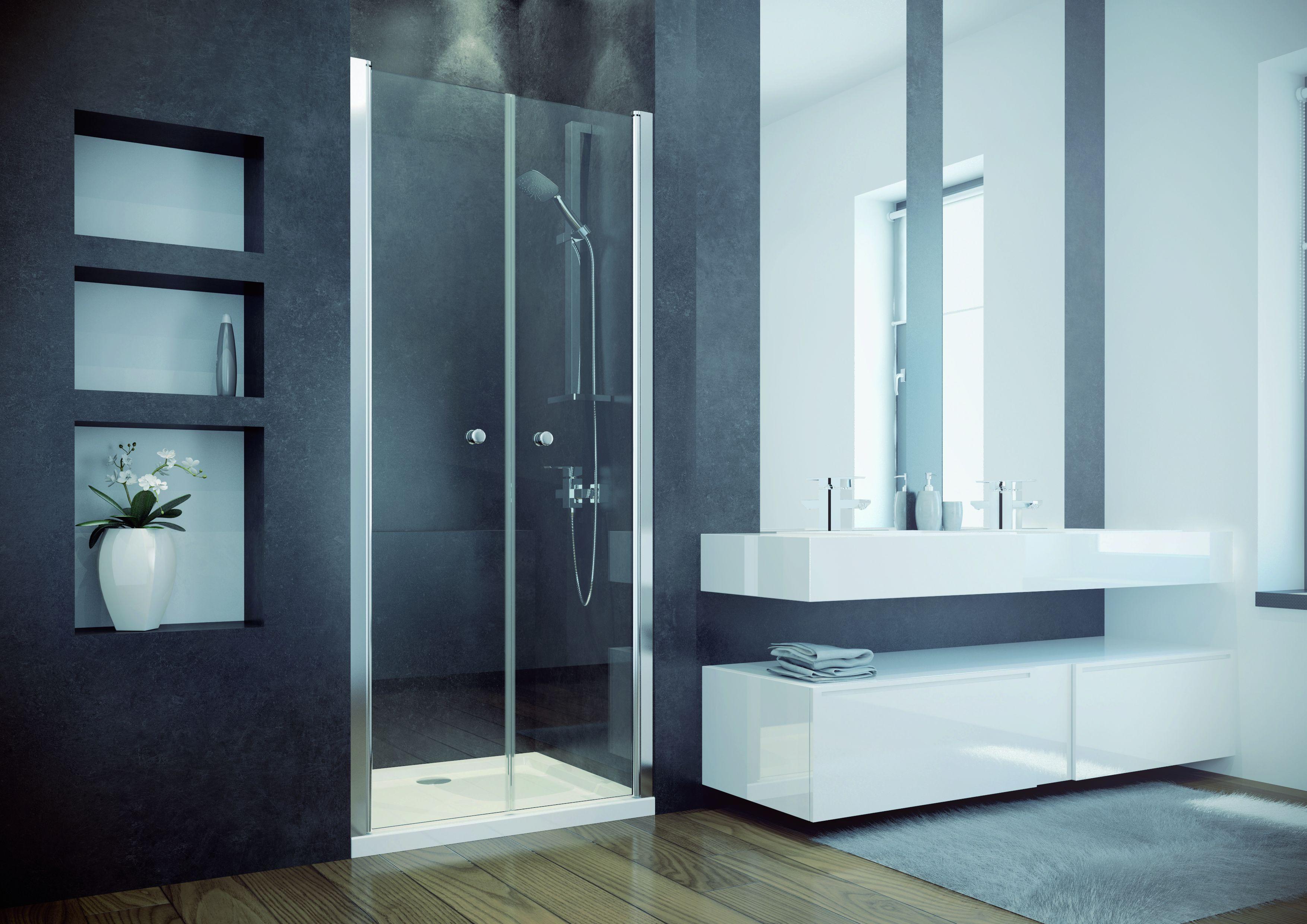 HOPA - Bezrámové sprchové dveře SINCO DUE - Barva rámu zástěny - Hliník chrom, Rozměr A - 90 cm, Směr zavírání - Univerzální Levé / Pravé, Výplň - Čiré bezpečnostní sklo - 6 mm, Výška - 195 cm (BCSIN90DUE)