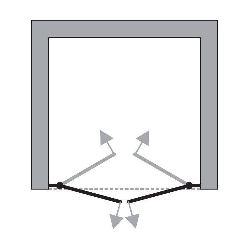 HOPA - Bezrámové sprchové dvere SINCO DUE - Farba rámu zásteny - Hliník chróm, Rozmer A - 90 cm, Smer zatváranie - Univerzálny Ľavé / Pravé, Výplň - Číre bezpečnostné sklo - 6 mm, Výška - 195 cm (BCSIN90DUE)