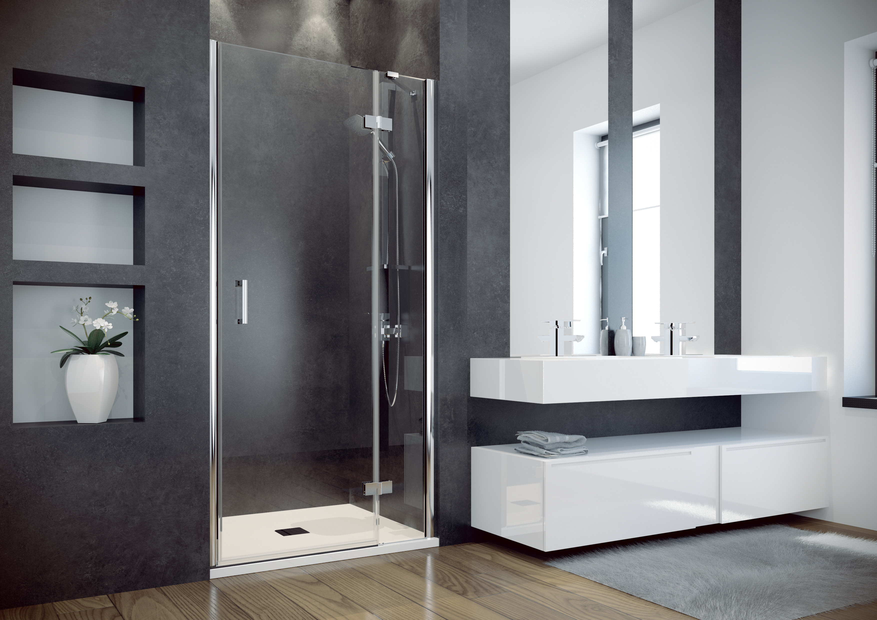 HOPA - Bezrámové sprchové dvere VIVA 195D - Farba rámu zásteny - Hliník chróm, Rozmer A - 100 cm, Smer zatváranie - Ľavé (SX), Výplň - Číre bezpečnostné sklo - 8 mm, Výška - 195 cm BCVIV10L