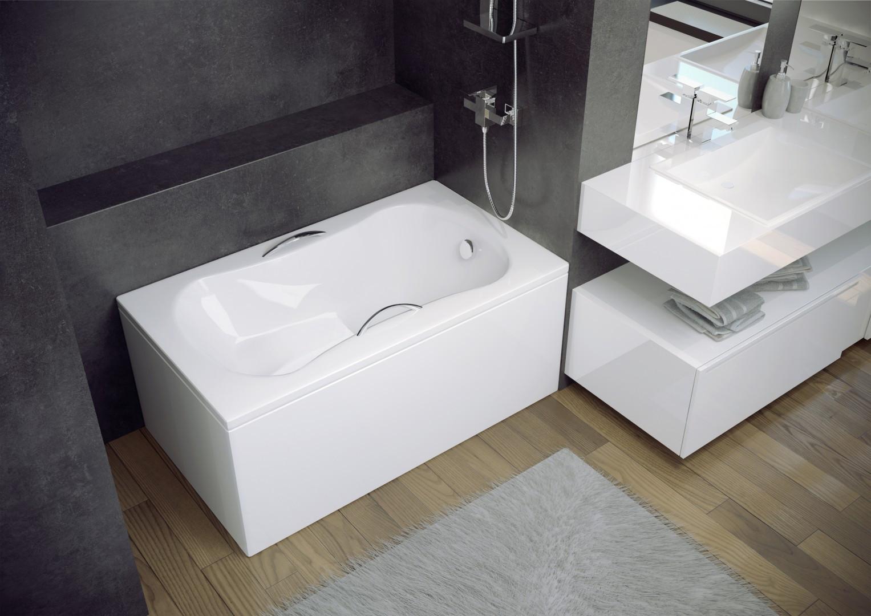 HOPA - Obdélníková vana ARIA REHAB - Nožičky k vaně - s nožičkami, Rozměr vany - 120 × 70 cm (VANARIA120REH+OLVPINOZ)