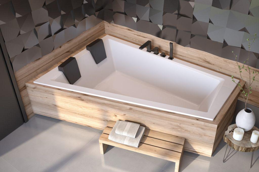 HOPA - Asymetrická vaňa INTIMA DUO SLIM - Nožičky k vani - Bez nožičiek, Rozmer vane - 180 × 125 cm, Spôsob prevedenia - Ľavé VANINTID18SLIML