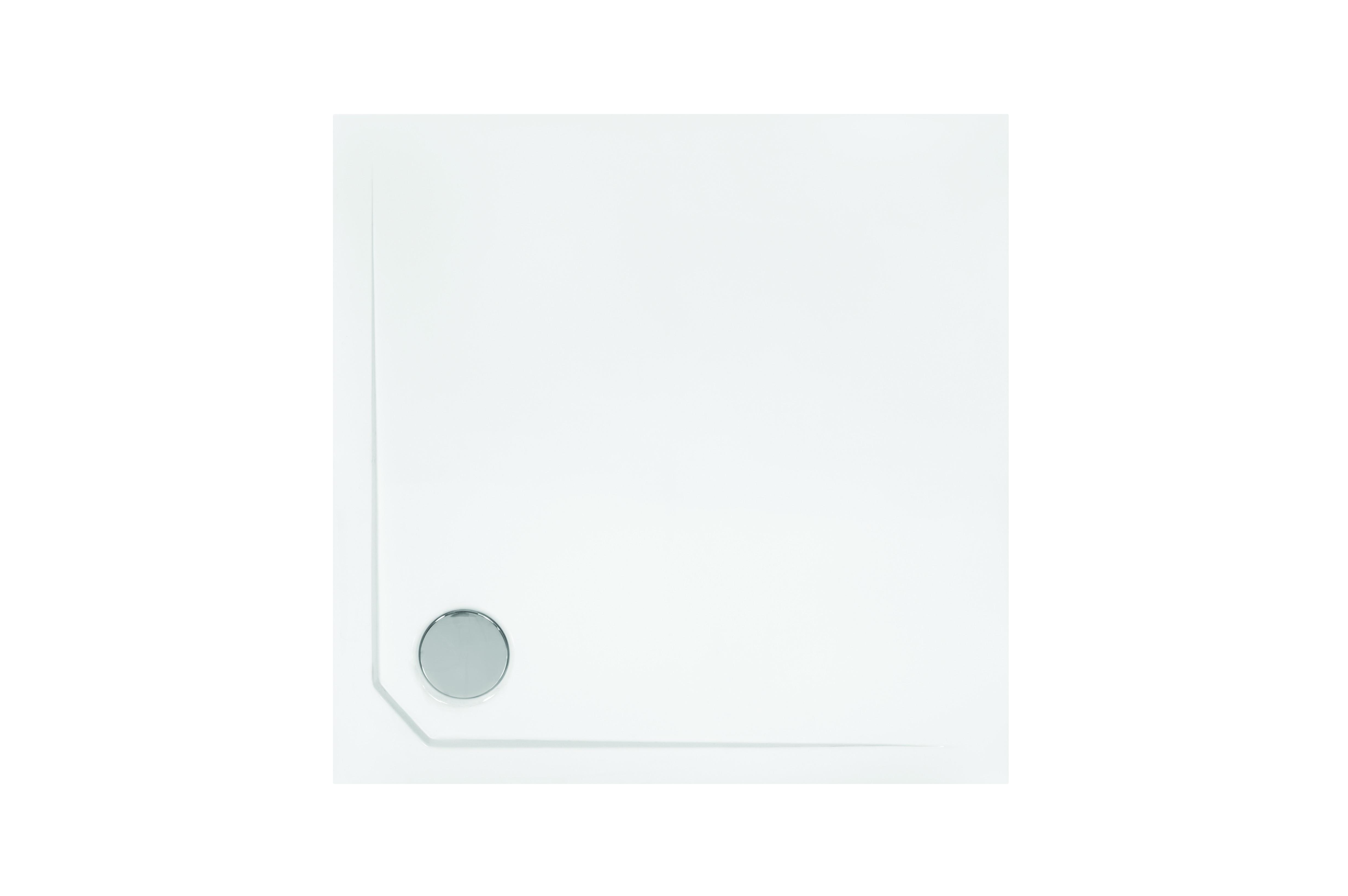 HOPA - Čtvercová sprchová vanička ACRO - Provedení - Univerzální, Šíře - 80 cm, Hloubka - 80 cm, Výška - 3,5 cm (VANKACRO80)