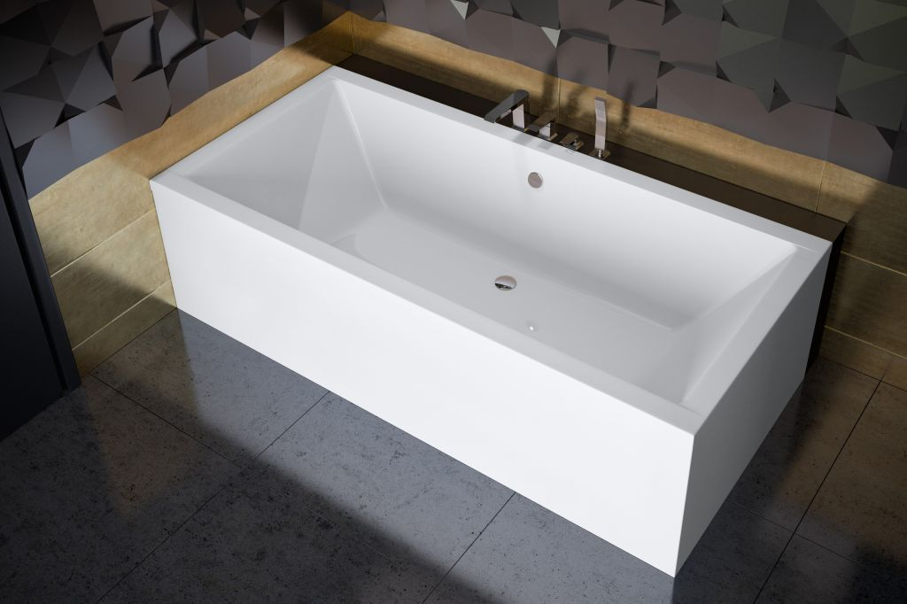 HOPA - Obdĺžniková vaňa QUADRO - Nožičky k vani - Bez nožičiek, Rozmer vane - 180 × 80 cm VANQAUD180