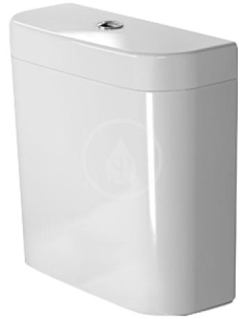DURAVIT - Happy D.2 Splachovací nádrž 395x160 mm, připojení vpravo nebo vlevo, alpská bílá (0934000005)