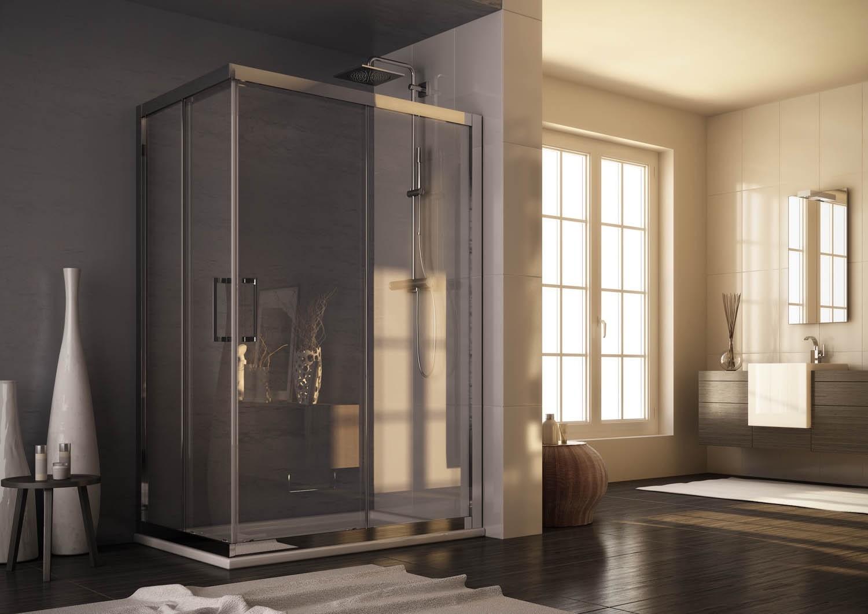 HOPA - Obdélníkový a čtvercový sprchový kout ROMA - Barva rámu zástěny - Hliník leštěný, Provedení - Univerzální, Šíře - 100 cm, Výplň - Čiré bezpečnostní sklo - 6 mm, Výška - 190 cm (BLRO305CC)