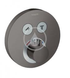 HANSGROHE - Shower Select Termostatická batéria pod omietku na 2 spotrebiče, kefovaný čierny chróm (15743340)