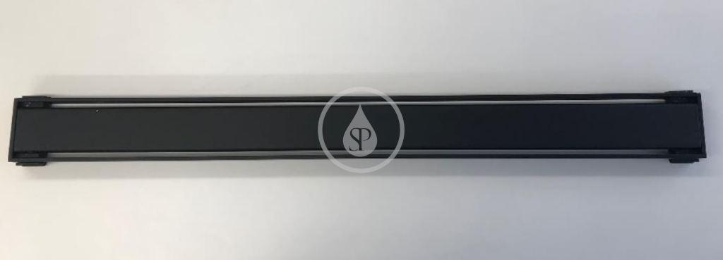 I-Drain - Plano Sprchový rošt z nehrdzavejúcej ocele, dĺžka 1100 mm, matná čierna IDRO1100AZ