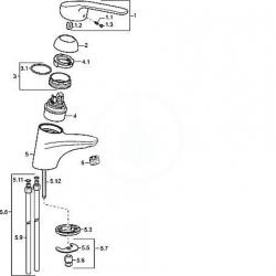 HANSA - Medica Páková umývadlová batéria, chróm (01082186), fotografie 2/2