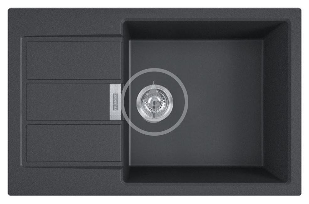 FRANKE FRANKE - Sirius 2.0 Tectonitový drez S2D 611-78 XL, 780x500 mm, čierna 143.0617.613