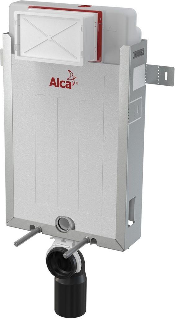 ALCAPLAST  Renovmodul - predstenový inštalačný systém s bielym tlačidlom M1710 + WC JIKA LYRA PLUS 49 + SEDADLO duraplastu SLOWCLOSE (AM115/1000 M1710 LY4)