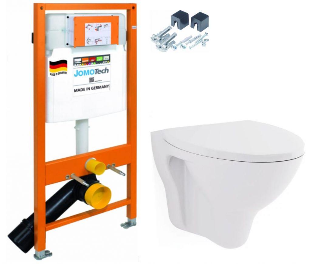 JOMOTech modul pre závesné WC bez sedátka + WC CERSANIT ARES + SEDADLO 174-91100700-00 AR1