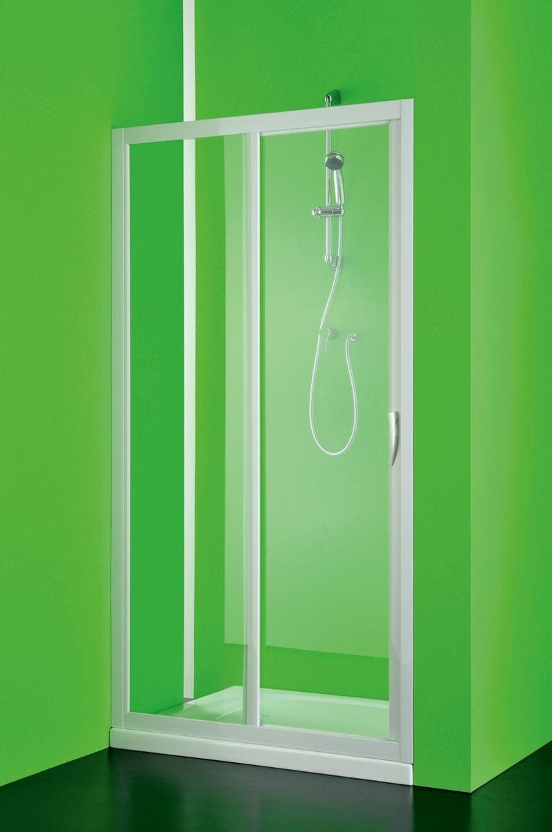 HOPA - Sprchové dveře MAESTRO DUE - Barva rámu zástěny - Plast bílý, Provedení - Univerzální, Šíře - 90 cm, Výplň - Čiré bezpečnostní sklo - 3 mm, Výška - 185 cm (BSMAD09S)