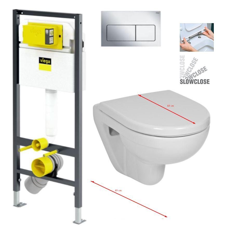 VIEGA Presvista modul DRY pre WC vrátane tlačidla Life5 CHROM + WC JIKA LYRA PLUS 49 + SEDADLO duraplastu SLOWCLOSE V771973 LIFE5CR LY4