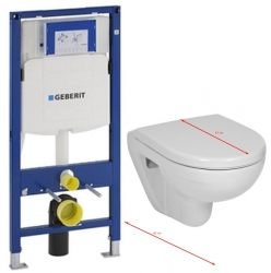 GEBERIT Duofix bez ovládacej dosky + WC JIKA LYRA PLUS 49 + SEDADLO duraplastu (111.300.00.5 LY3)