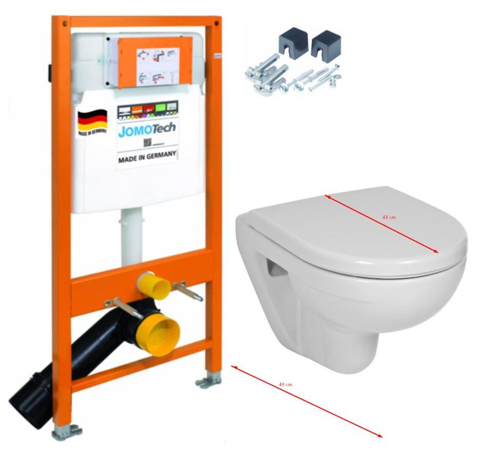 JOMO DUO modul pro závěsné WC bez desky + WC JIKA LYRA PLUS 49 + SEDÁTKO DURAPLAST (174-91100700-00 LY3)