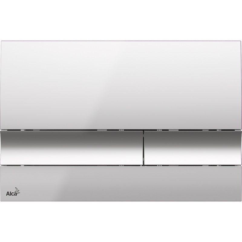 ALCAPLAST  Renovmodul - predstenový inštalačný systém s chrómovým tlačidlom M1721 + WC JIKA LYRA PLUS 49 + SEDADLO duraplastu (AM115/1000 M1721 LY3)