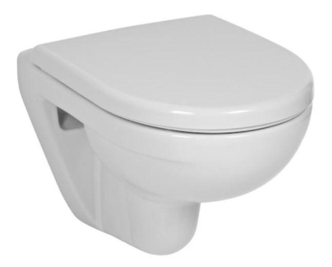 LAUFEN Rámový podomietkový modul CW1 SET s bielym tlačidlom + WC JIKA LYRA PLUS 49 + SEDADLO duraplastu (H8946600000001BI LY3)