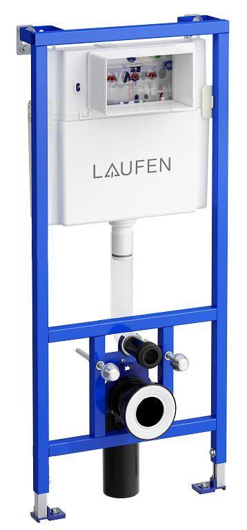 LAUFEN Rámový podomietkový modul CW1 SET s chrómovým tlačidlom + WC JIKA LYRA PLUS 49 + SEDADLO duraplastu (H8946600000001CR LY3)