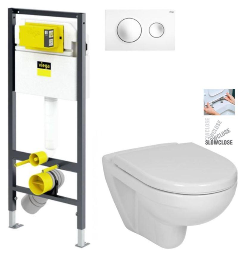 VIEGA Presvista modul DRY pro WC včetně tlačítka Style 20 bílé + WC JIKA LYRA PLUS + SEDÁTKO DURAPLAST SLOWCLOSE (V771973 STYLE20BI LY5)