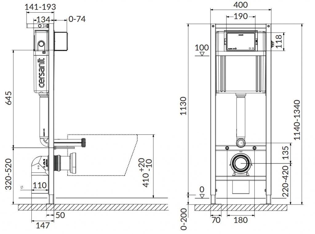 CERSANIT nádržka AQUA 02 bez tlačidla + WC JIKA LYRA PLUS 49 + SEDADLO duraplastu (S97-063 LY3)