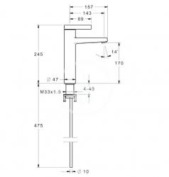 HANSA - Loft Páková umývadlová batéria, chróm (57562103), fotografie 2/1