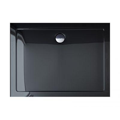 Obdélníková sprchová vanička Breno 120x80 cm černá (REA-K012G)